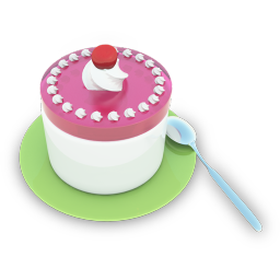 256x256px size png icon of Tea Cake