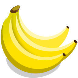 256x256px size png icon of bananas