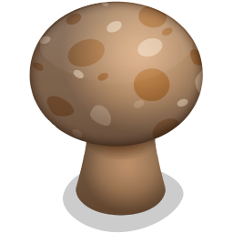 256x256px size png icon of mushroom
