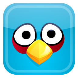 256x256px size png icon of blue bird