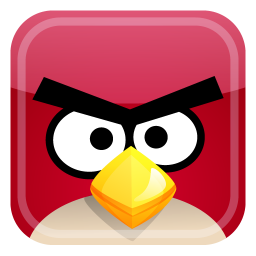 256x256px size png icon of red bird