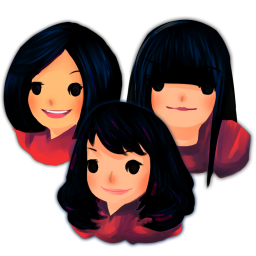 256x256px size png icon of Three Girls