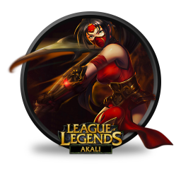 256x256px size png icon of Akali Crimson