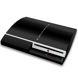 256x256px size png icon of PS3 fat hor