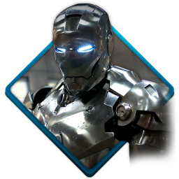 256x256px size png icon of iron man