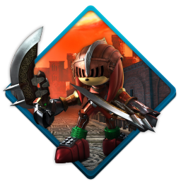 256x256px size png icon of sonic black knight
