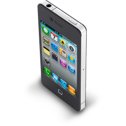 256x256px size png icon of iPhone 4 Black