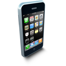 256x256px size png icon of iPhoneStanding