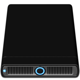 256x256px size png icon of Blue External
