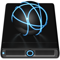 256x256px size png icon of Blue iDisk