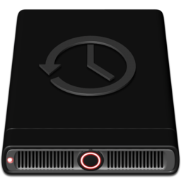 256x256px size png icon of Red Time Machine