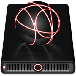 256x256px size png icon of Red iDisk