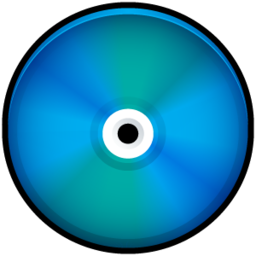 256x256px size png icon of CD Colored Blue