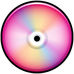 256x256px size png icon of CD Colored Pink