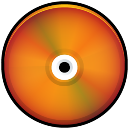 256x256px size png icon of CD Colored Red