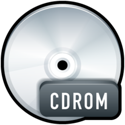 256x256px size png icon of File CDROM