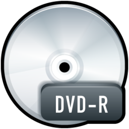 256x256px size png icon of File DVD R