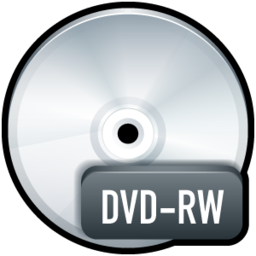 256x256px size png icon of File DVD RW
