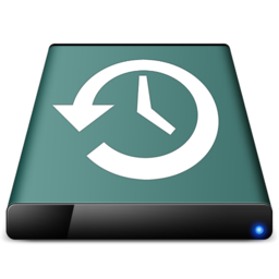 256x256px size png icon of diskicon   time machine