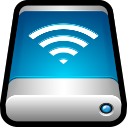 256x256px size png icon of Device External Drive Airport Disk