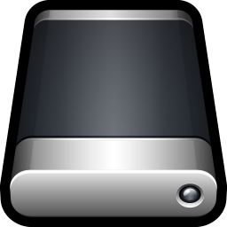 256x256px size png icon of Device External Drive Generic