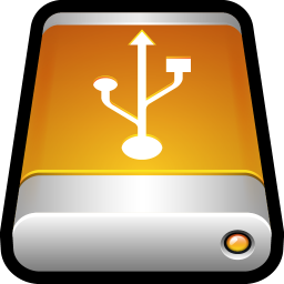 256x256px size png icon of Device External Drive USB