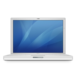 256x256px size png icon of ibook g4 12
