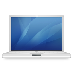 256x256px size png icon of ibook g4 14