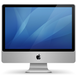 256x256px size png icon of imac aluminum