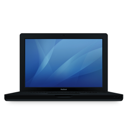 256x256px size png icon of macbook black