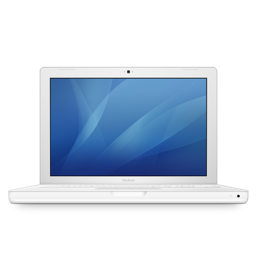 256x256px size png icon of macbook white