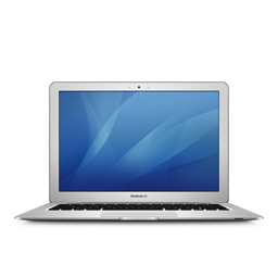 256x256px size png icon of macbookair