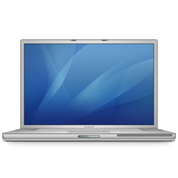 256x256px size png icon of powerbook g4 17