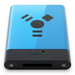256x256px size png icon of Blue Firewire B