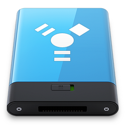 256x256px size png icon of Blue Firewire W