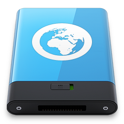 256x256px size png icon of Blue Server W