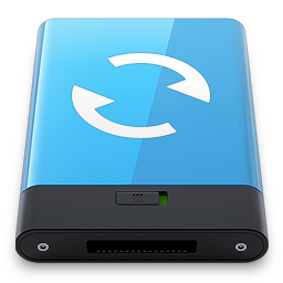 256x256px size png icon of Blue Sync W