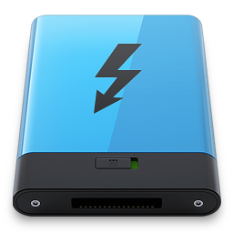 256x256px size png icon of Blue Thunderbolt B