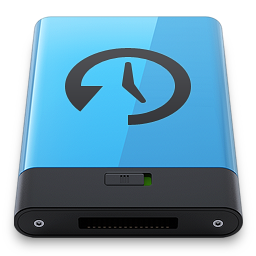 256x256px size png icon of Blue Time Machine B