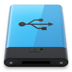 256x256px size png icon of Blue USB B