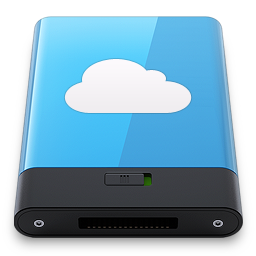 256x256px size png icon of Blue iDisk W