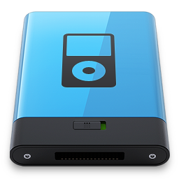 256x256px size png icon of Blue iPod B