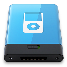 256x256px size png icon of Blue iPod W
