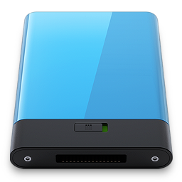 256x256px size png icon of Blue
