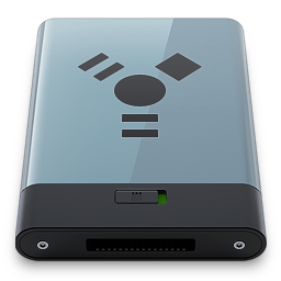 256x256px size png icon of Graphite Firewire B
