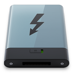 256x256px size png icon of Graphite Thunderbolt B