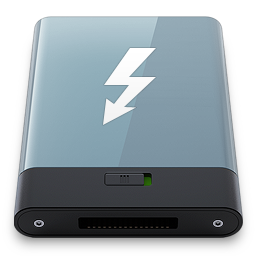256x256px size png icon of Graphite Thunderbolt W