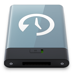 256x256px size png icon of Graphite Time Machine W