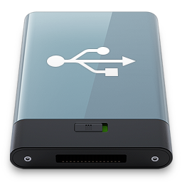 256x256px size png icon of Graphite USB W