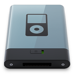 256x256px size png icon of Graphite iPod B
